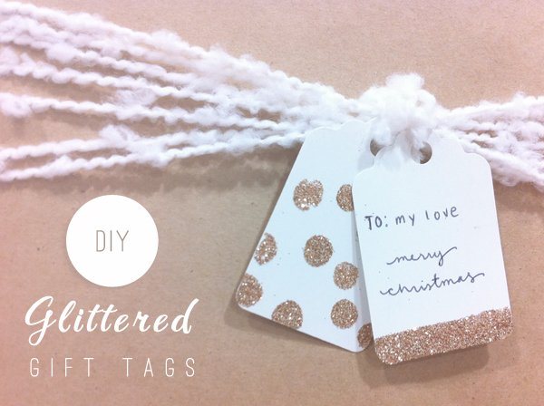 Christmas Diy Glittered Gift Tags Converge Magazine