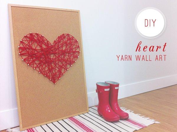 Diy Heart Yarn Wall Art Converge Magazine